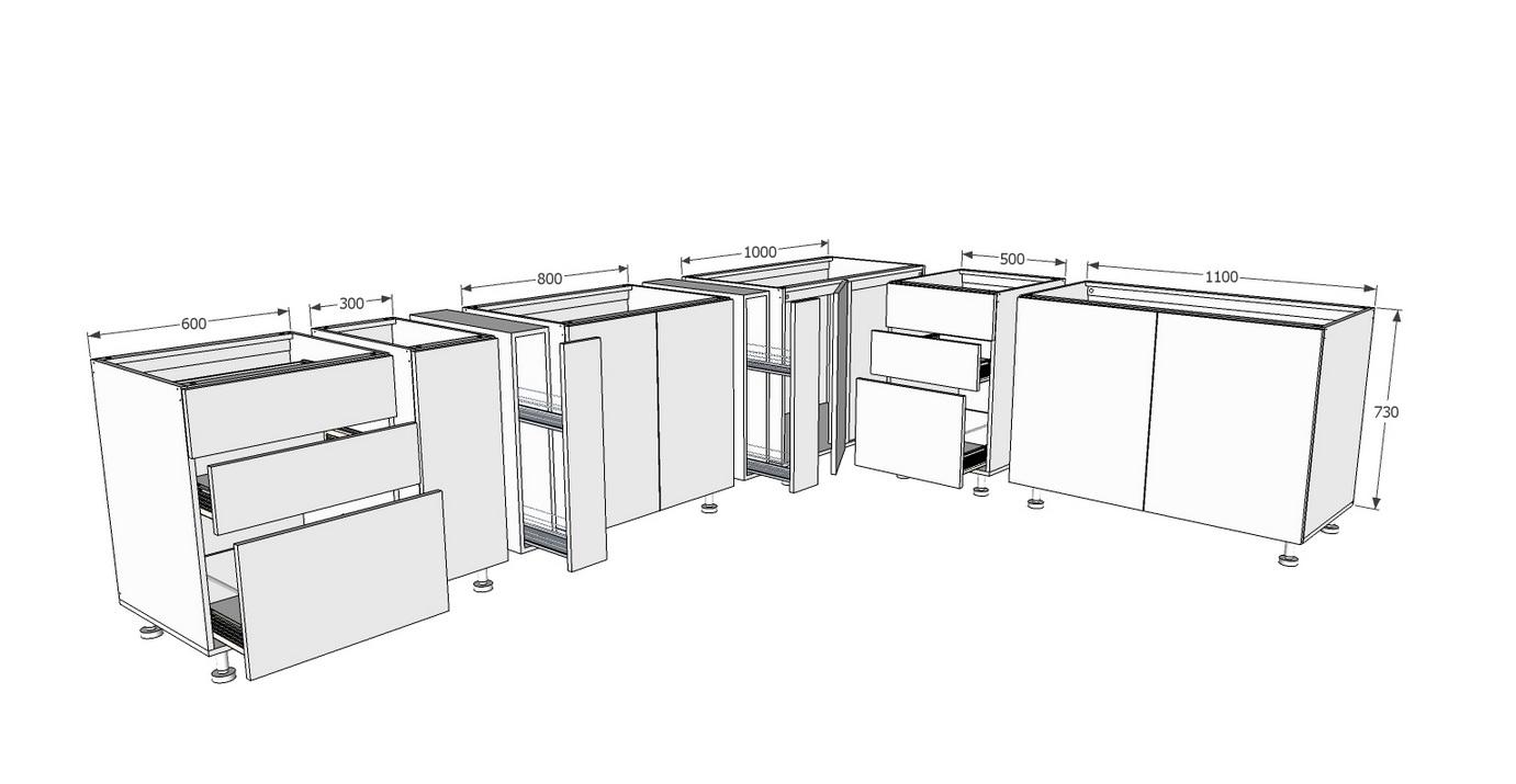 ตัวอย่างการเรียงโครงตู้ซีเมนต์บอร์ดระบบโมดูล่า