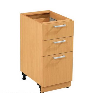 ตู้ครัวล่่าง Modern Kit ตู้ 3 ลิ้นชัก มีถาดวางอุปกรณ์  รหัส MBD-40