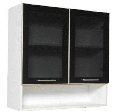 ชุุดครัวสำเร็จรูป ตู้แขวนบนบานกระจก-ช่องล่างโล่ง Smart Kit SLW-80G