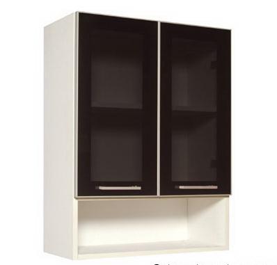 ชุุดครัวสำเร็จรูป ตู้แขวนบนบานกระจก-ช่องล่างโล่ง Smart Kit SLW-60G