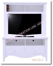 ตู้วางทีวี 2 ลิ้นชัก  สีขาววินเทจ Vintage HB-2012