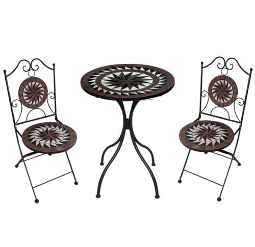 TEARATE โต๊ะโมเสค HB-360T+เก้าอี้ HB-360C