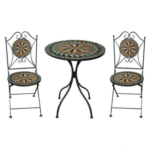 TEARATE โต๊ะโมเสค HB-361T+เก้าอี้ HB-361C