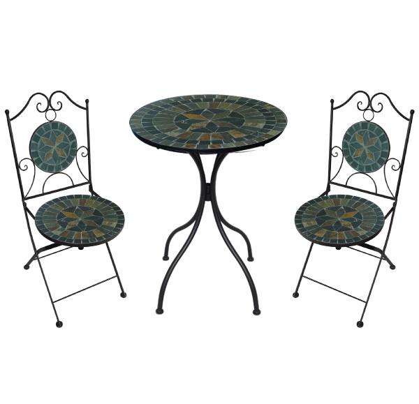 TEARATE โต๊ะโมเสค HB-363T+เก้าอี้ HB-363C