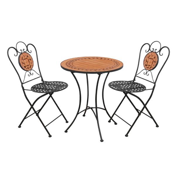 TEARATE โต๊ะโมเสค HB-365T+เก้าอี้ HB-365C