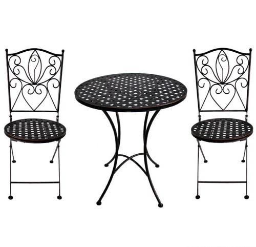 TEARATE โต๊ะโมเสค HB-366T+เก้าอี้ HB-366C