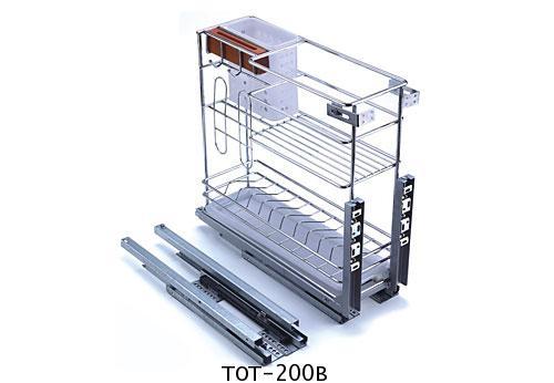 ตะแกรงเอนกประสงค์ ใส่ขวด ติดหน้าลิ้นชัก ขนาด 20 ซม. (TOT-200B) 1