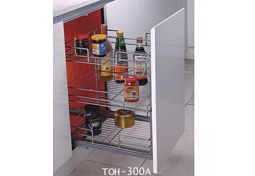 ตะแกรงอเนกประสงค์ มีช่องใส่ขวด ติดหน้าลิ้นชัก ขนาด 30 ซม. (TOH-300A)
