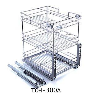 ตะแกรงอเนกประสงค์ มีช่องใส่ขวด ติดหน้าลิ้นชัก ขนาด 30 ซม. (TOH-300A) 1