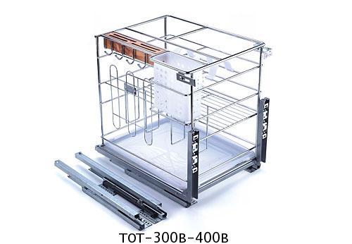 ตะแกรงอเนกประสงค์ ติดหน้าลิ้นชัก ขนาด 30, 40 ซม. มีถาด (TOT-300B-400B) 1