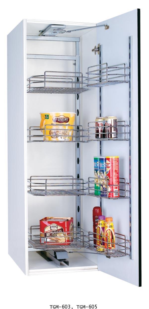 ตะแกรงอเนกประสงค์ตู้สูง บานเปิด 3, 5 ชั้น ขนาดตู้ 60 ซม. (TGM-603-605)