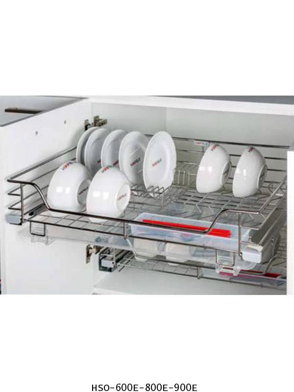 ตะแกรงอเนกประสงค์ สแตนเลส คว่ำจาน หน้าบานเปิด 60, 80, 90 ซม. (HSO-600E-800E-900E)