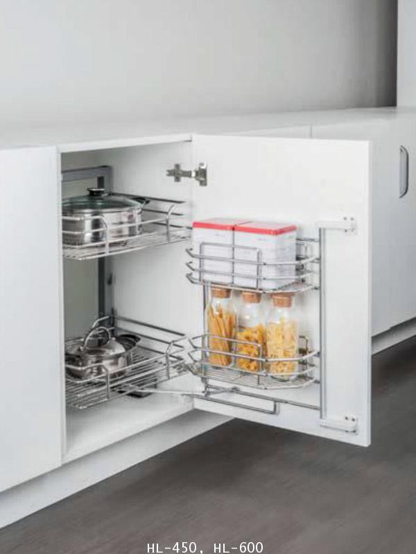 ตะแกรงอเนกประสงค์ สแตนเลส ตู้เตี้ย 2 ชั้น หน้าบานเปิด 45, 60 ซม. (HL-450-600)