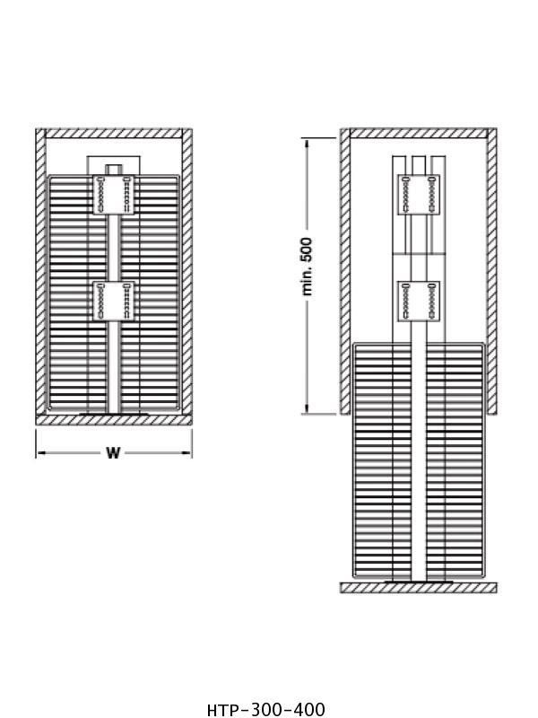 ตะแกรงอเนกประสงค์ สแตนเลส ตู้สูง หน้าบานดึง 30, 40 ซม. (HTP-300-400) 1