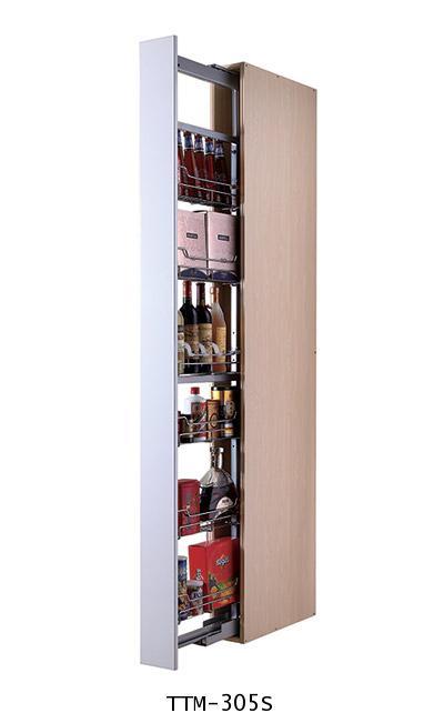 ตะแกรงอเนกประสงค์ สแตนเลส ตู้สูง บานดึง 5 ชั้น ขนาด 30 ซม. (TTM-305S)