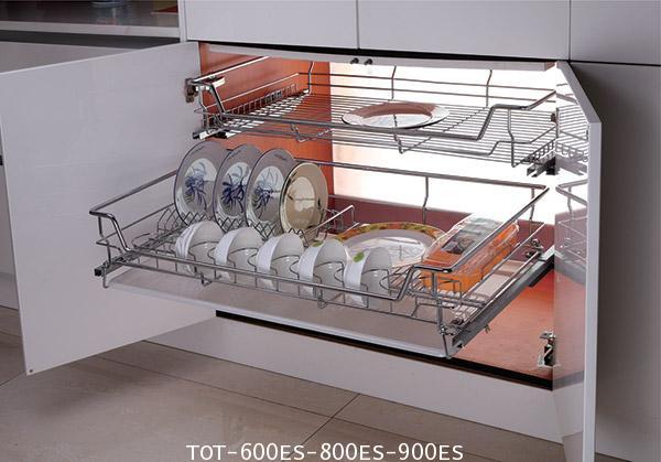 ตะแกรงอเนกประสงค์ สแตนเลส ใส่จาน ขนาด 60, 80, 90 ซม. มีถาดรองน้ำ (TOT-600ES-800ES-900ES)