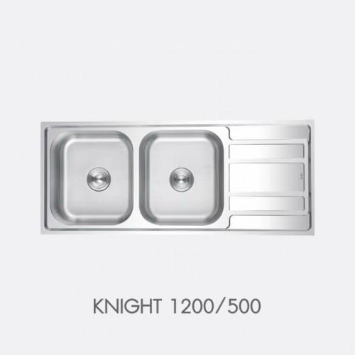 ซิงค์ล้างจาน สแตนเลส 2 หลุม EVE รุ่น KNIGHT 1200/500