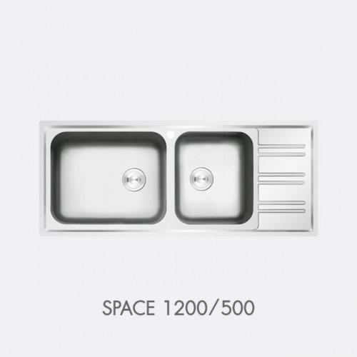 ซิงค์ล้างจาน สแตนเลส 2 หลุม EVE รุ่น SPACE 1200/500