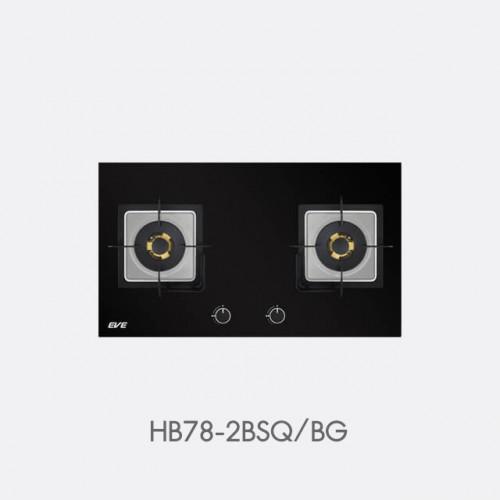 เตาแก๊ส 2 หัว แบบฝัง ฐานกระจกนิรภัย รุ่น HB78-2BSQ/BG