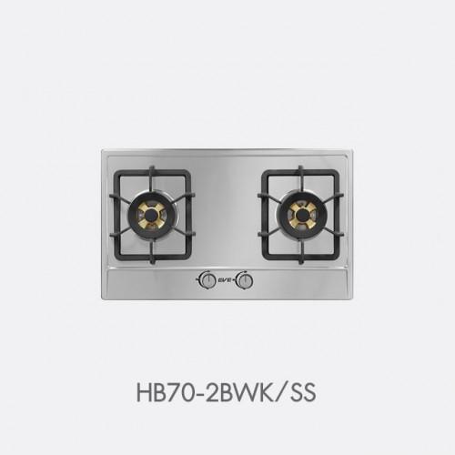 เตาแก๊ส 2 หัว แบบฝัง EVE รุ่น HB70-2BWK/SS