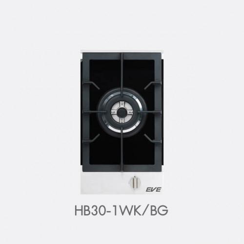 เตาแก๊สหัวเดียว แบบฝัง ฐานกระจกนิรภัย EVE รุ่น HB30-1WK/BG