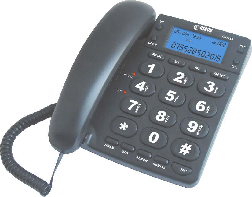 โทรศัพท์ รีช รุ่น CID 989