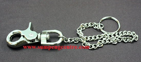 พวงกุญแจก้ามปู มีโซ่ K03