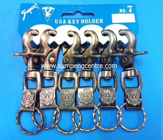 พวงกุญแจก้ามปู พ่นคละสี no:7 อินทรี