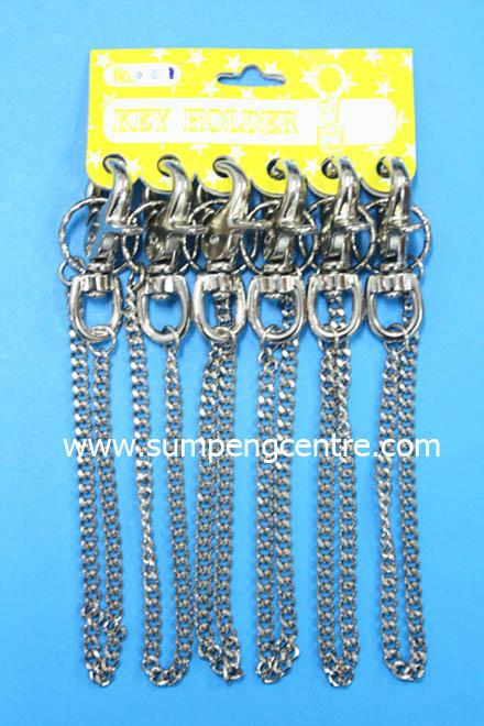พวงกุญแจก้ามปู มีโซ่ no:031
