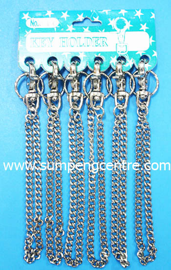พวงกุญแจก้ามปู มีโซ่ no:034