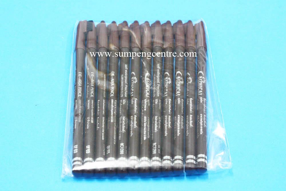 ดินสอเขียนคิ้วมีแปรงสีน้ำตาล no.3