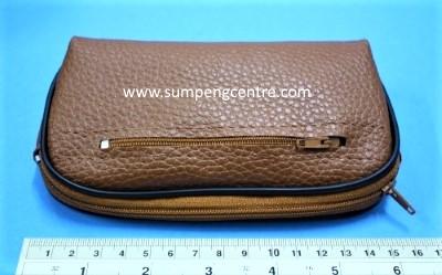 กระเป๋าหนังช้างเทียม - 6 นิ้ว 2 ซิป