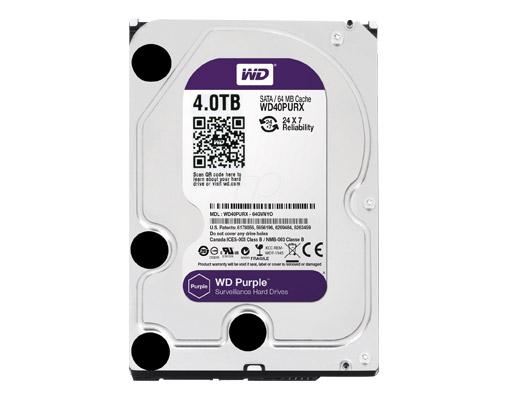 HDD WD 4TB PURPLE /SATA3/64MB-3 YEAR