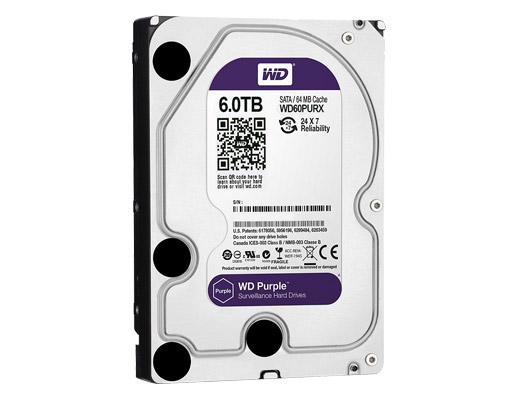 6.0 TB HDD WESTERN SATA-3 PURPLE