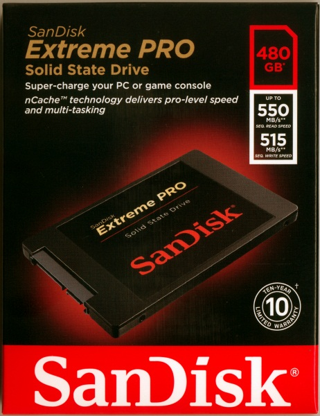 480 GB SSD SANDISK EXTREME PRO (SDSSDXPS)