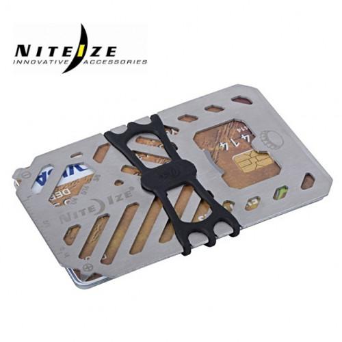 การ์ดเครื่องมือเอนกประสงค์แบบพกพา Nite Ize Financial Tool Multi Tool Wallet ( 7 in 1 ) สีเงิน