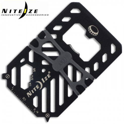 การ์ดเครื่องมือเอนกประสงค์แบบพกพา Nite Ize Financial Tool Multi Tool Wallet ( 7 in 1 ) สีดำ