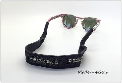 สายคล้องแว่น Croakies  XL American Rivers®