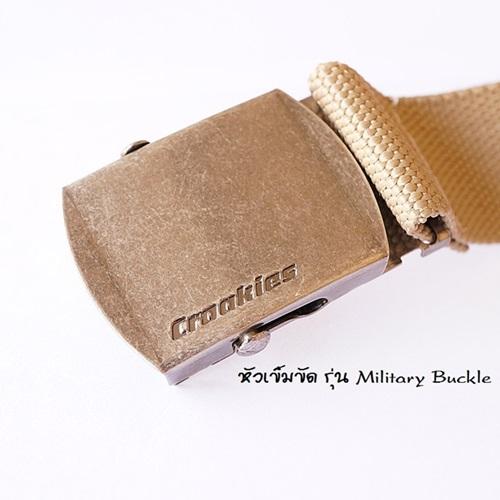 เข็มขัด CROAKIES P.E.T. BELTS รุ่น Military Buckle 1
