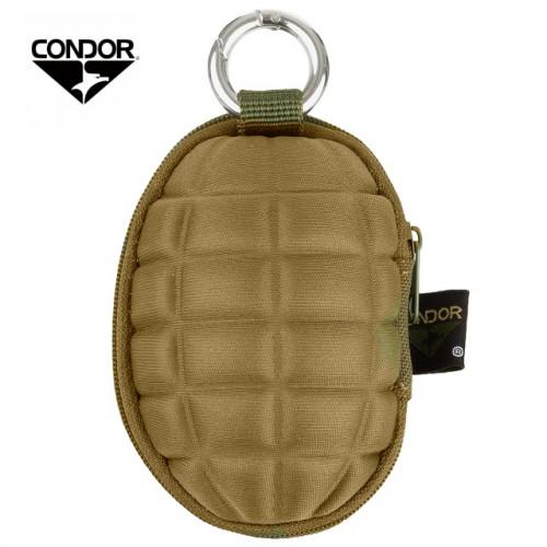 CONDOR กระเป๋าตังค์พวงกุญแจ CB. Grenade Keychain Pouch สีน้ำตาล
