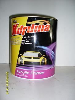 สีพ่นรองพื้นอะคริลิคแห้งเร็ว Kuruma 1K 4 กก.