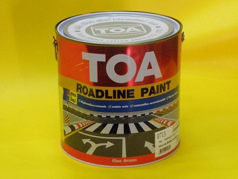 สีทาถนน  TOA Road Line Paint  แบบสะท้อนแสง 0713 สีเหลือง