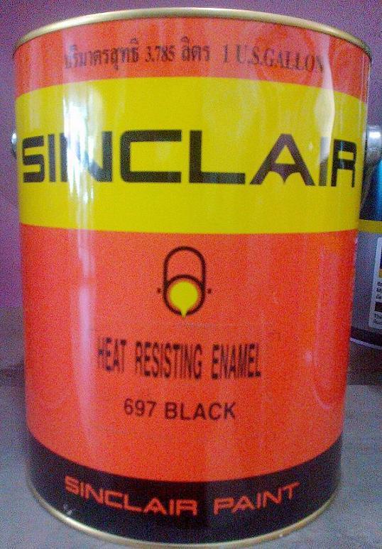 SINCLAIR 697 1GL.(สีดำ ทนความร้อนได้ 450C)