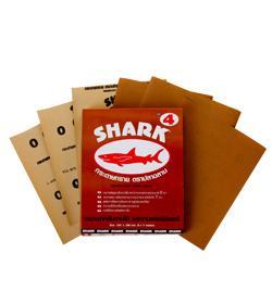 กระดาษทรายขัดไม้ตราปลาฉลาม (1 โหล)
