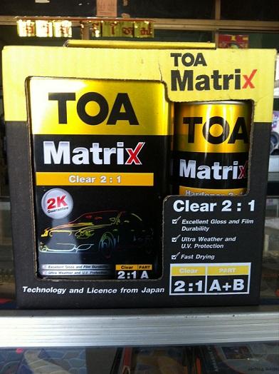 สีพ่นเคลียร์ทับหน้า Matrix ระบบ2K ชนิด 2:1 A+B  1.42 ลิตร