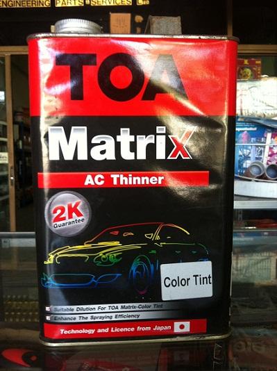 AC ทินเนอร์เจือจาง สีพ่นรถยนต์ ทีโอเอเมทริค 3.785 ลิตร