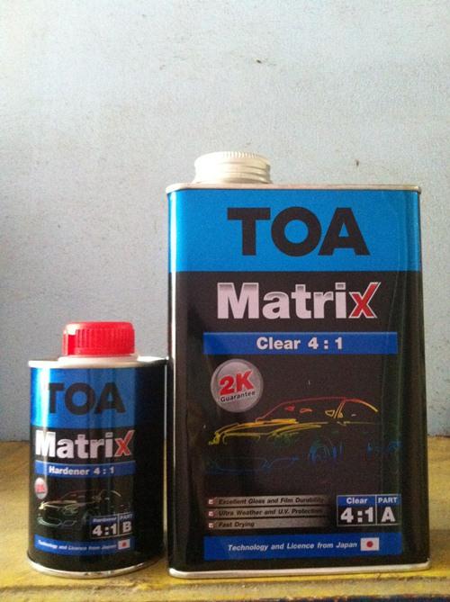 เคลียร์ทับหน้า Matrix 2K ระบบ 4:1 Clear 4:1 2K A+B 4.75 ลิตร