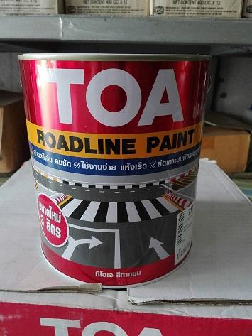 สีทาถนน  TOA Road Line Paint  แบบไม่สะท้อนแสง 0703 สีเหลือง