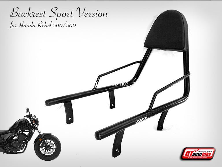 NEW Backrest GT1 for Honda Rebel 300/500