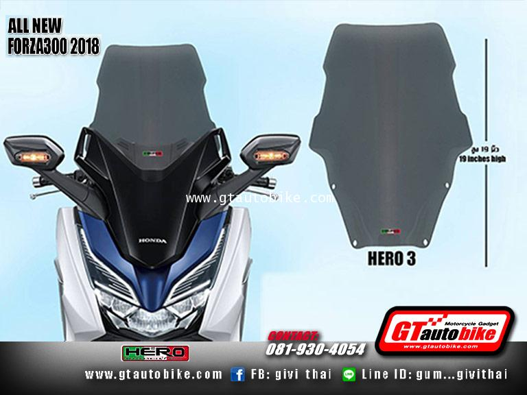 Windshield New Honda FORZA 2018 by Hero 2